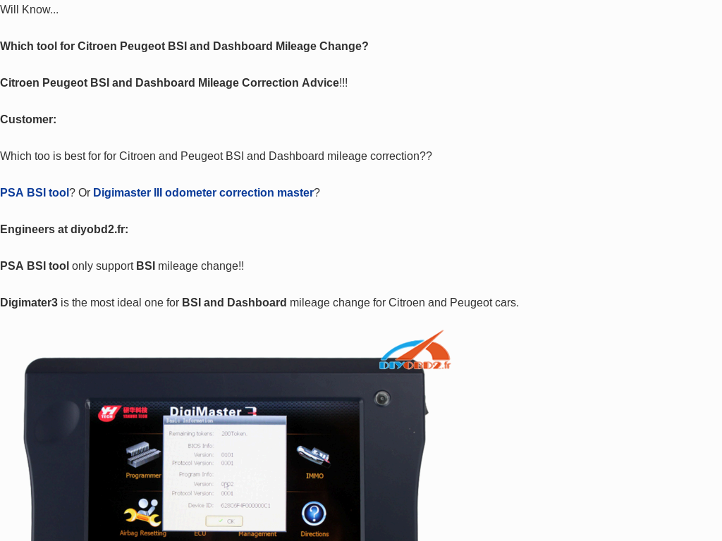Free Download Digimaster 3 Citroen and Peugeot List for km change
